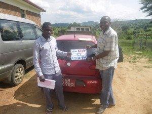 ウガンダのお客様からの写真 アルファロメオ147
