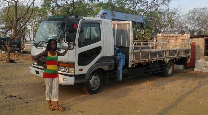 ザンビアのお客様からの写真 三菱フソウ/ファイター